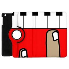 Piano  Apple Ipad Mini Flip 360 Case by Valentinaart