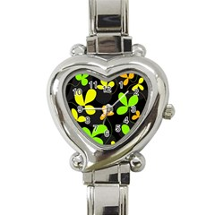 Floral Design Heart Italian Charm Watch by Valentinaart