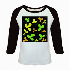 Floral Design Kids Baseball Jerseys by Valentinaart