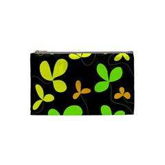 Floral Design Cosmetic Bag (small)  by Valentinaart