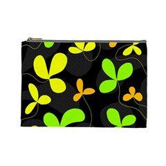 Floral Design Cosmetic Bag (large)  by Valentinaart