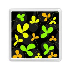 Floral Design Memory Card Reader (square)  by Valentinaart