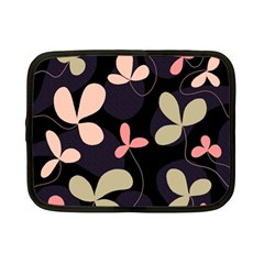Elegant Floral Design Netbook Case (small)  by Valentinaart