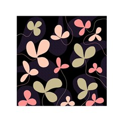 Elegant Floral Design Small Satin Scarf (square) by Valentinaart