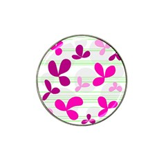 Magenta Floral Pattern Hat Clip Ball Marker (10 Pack) by Valentinaart