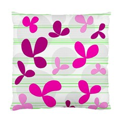 Magenta Floral Pattern Standard Cushion Case (two Sides) by Valentinaart
