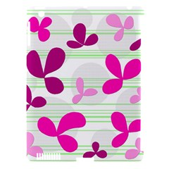 Magenta Floral Pattern Apple Ipad 3/4 Hardshell Case (compatible With Smart Cover) by Valentinaart