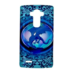 The Blue Dragpn On A Round Button With Floral Elements Lg G4 Hardshell Case by FantasyWorld7