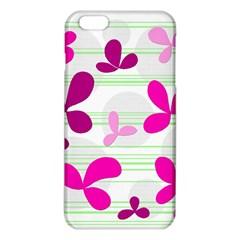 Magenta Floral Pattern Iphone 6 Plus/6s Plus Tpu Case by Valentinaart