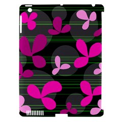 Magenta Floral Design Apple Ipad 3/4 Hardshell Case (compatible With Smart Cover) by Valentinaart