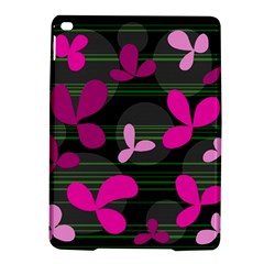 Magenta Floral Design Ipad Air 2 Hardshell Cases by Valentinaart