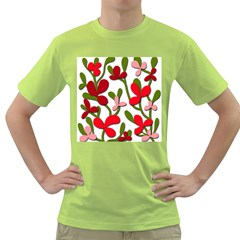 Floral Tree Green T Shirt by Valentinaart