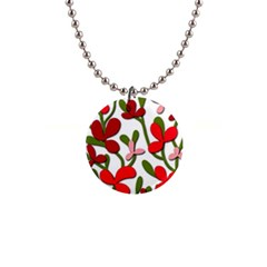 Floral Tree Button Necklaces by Valentinaart