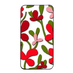 Floral Tree Apple Iphone 4/4s Seamless Case (black) by Valentinaart