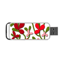 Floral Tree Portable Usb Flash (one Side) by Valentinaart