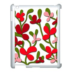 Floral Tree Apple Ipad 3/4 Case (white) by Valentinaart