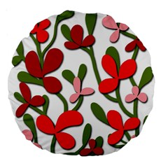 Floral Tree Large 18  Premium Flano Round Cushions by Valentinaart