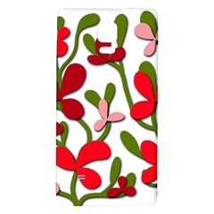Floral Tree Galaxy Note 4 Back Case by Valentinaart