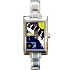 Hard Rectangle Italian Charm Watch by Valentinaart