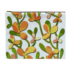 Decorative Floral Tree Cosmetic Bag (xl) by Valentinaart