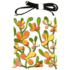Decorative Floral Tree Shoulder Sling Bags by Valentinaart