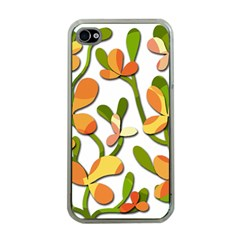 Decorative Floral Tree Apple Iphone 4 Case (clear) by Valentinaart