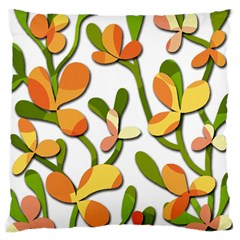 Decorative Floral Tree Large Cushion Case (two Sides) by Valentinaart