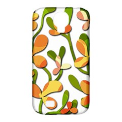 Decorative Floral Tree Samsung Galaxy S4 Classic Hardshell Case (pc+silicone) by Valentinaart