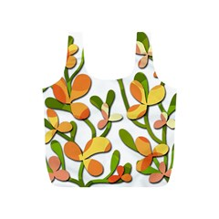 Decorative Floral Tree Full Print Recycle Bags (s)  by Valentinaart