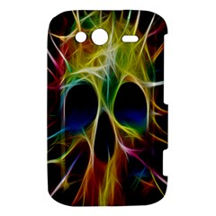 Skulls Multicolor Fractalius Colors Colorful HTC Wildfire S A510e Hardshell Case by Zeze