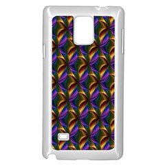 Seamless Prismatic Line Art Pattern Samsung Galaxy Note 4 Case (White) by Zeze