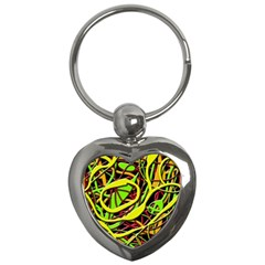 Snake Bush Key Chains (heart)  by Valentinaart