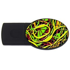 Snake Bush Usb Flash Drive Oval (2 Gb)  by Valentinaart