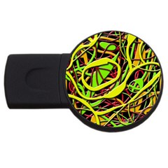 Snake Bush Usb Flash Drive Round (4 Gb)  by Valentinaart