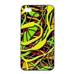 Snake Bush Apple Iphone 4/4s Seamless Case (black) by Valentinaart