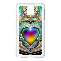 Rainbow Fractal Samsung Galaxy Note 3 N9005 Case (White) by Zeze