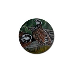 Bobwhite Quails Golf Ball Marker (4 pack) by timelessartoncanvas
