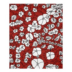 Cvdr0098 Red White Black Flowers Shower Curtain 60  X 72  (medium)  by CircusValleyMall