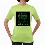 Adventure Time Cover Women s Green T-Shirt