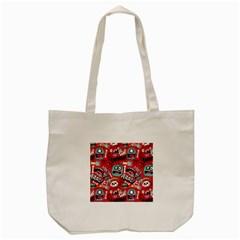Agghh Pattern Tote Bag (cream)