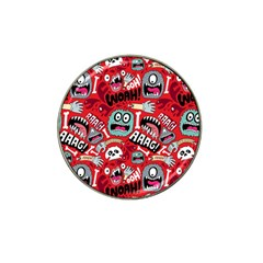 Agghh Pattern Hat Clip Ball Marker (10 Pack) by AnjaniArt