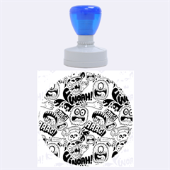 Agghh Pattern Rubber Round Stamps (large)