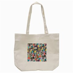 Alpha Pattern Tote Bag (cream)