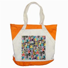 Alpha Pattern Accent Tote Bag