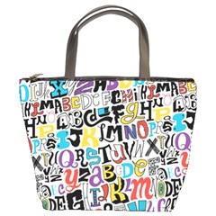 Alpha Pattern Bucket Bags