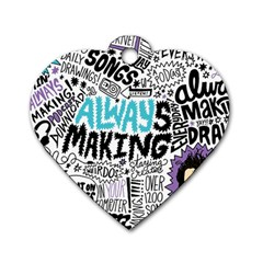 Always Making Pattern Dog Tag Heart (one Side) by AnjaniArt