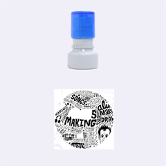 Always Making Pattern Rubber Round Stamps (small) by AnjaniArt