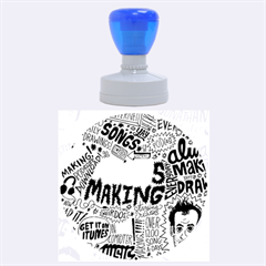 Always Making Pattern Rubber Round Stamps (large) by AnjaniArt