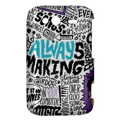 Always Making Pattern HTC Wildfire S A510e Hardshell Case by AnjaniArt