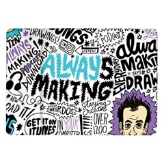 Always Making Pattern Samsung Galaxy Tab 10 1  P7500 Flip Case by AnjaniArt